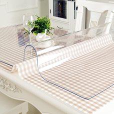Прозрачная скатерть мягкое (гибкое) стекло, размер 120*60 см.