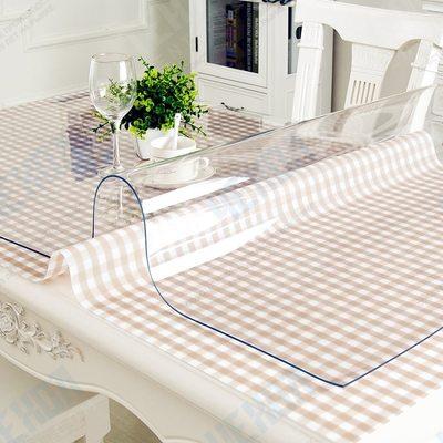 Прозрачная скатерть размер 120*60 *0,1см мягкое (гибкое) стекло