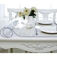 Гибкое стекло на стол толщина 0,8мм  50см х 120см