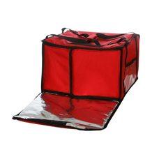 Термосумка на 5-6 пицц 420х420х300 мм фольгированная большая красная