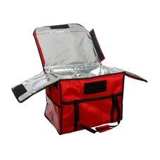 Термосумка для обедов 600х400х450 мм фольгированная Красный