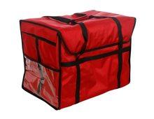 Термосумка для обедов 500х250х350 мм фольгированная Красный