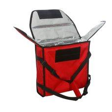 Термосумка на 2 пиццы 420х420х100 мм фольгированная большая красная