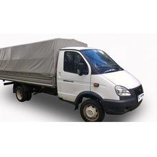 Тент автомобильный на ГАЗ 330202 (на ГАЗель удлиненная) 4.25м +30см