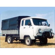 Тент автомобильный на УАЗ 39094 двухсторонняя ткань