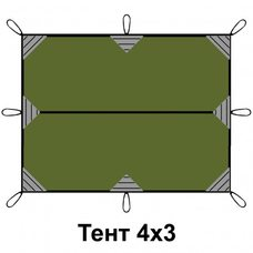 Тент 3*4м