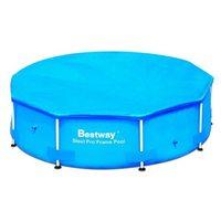 Тент на круглый каркасный бассейн 457/460 см bestway 58038