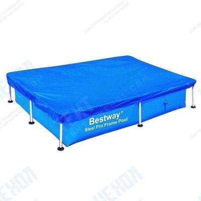 Тент на прямоугольный бассейн 400x211 см bestway 58107