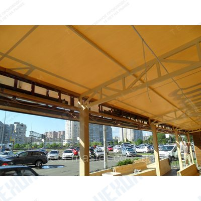 Навесы с крышей из пвх ткани для кафе и ресторанов