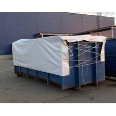 Тент - полог пвх для мусорных контейнеров 20м3