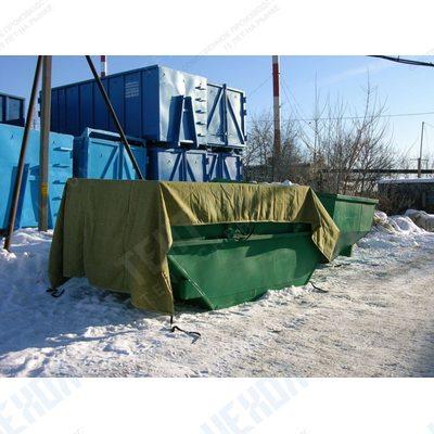 Тент - полог брезент для мусорных контейнеров 8м3