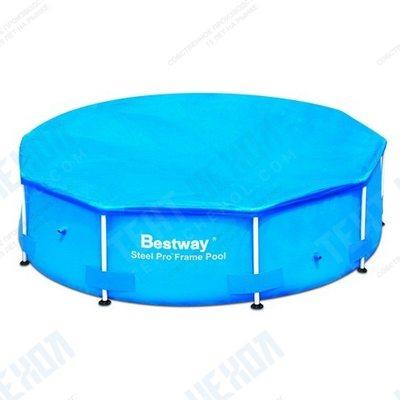 Тент на круглый каркасный бассейн 305 см bestway 58036