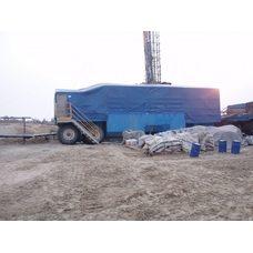 Буровое укрытие из пожаростойкой ткани ПВХ Г1 550 г/м2